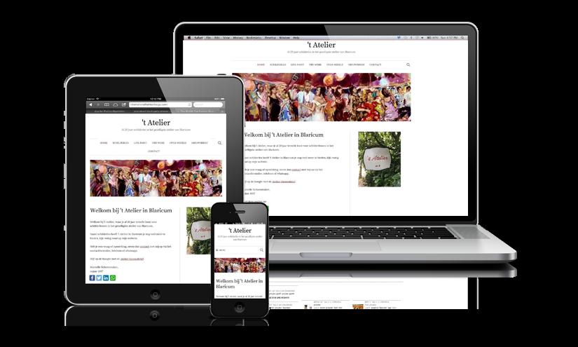 Website en nieuwsbrief voor 't Atelier in Blaricum